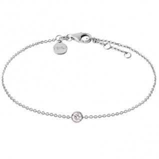 XENOX XS7320 Damen Armband Silver Circle Silber weiß 18, 5 cm a31ed4a31c