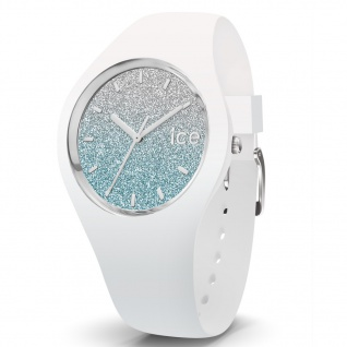 Ice-Watch 013425 Ice-Lo White blue small Uhr Damenuhr Silikon Weiß