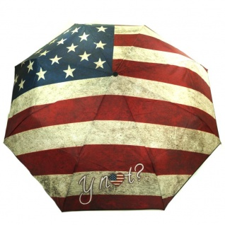 Y Not 55540 Super Mini Flagge USA Blau-Rot Taschenschirm