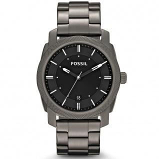Fossil FS4774 Uhr Herrenuhr Edelstahl Datum grau