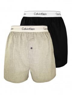 Calvin Klein Herren Boxershort 2er Pack Boxer Slim XL Mehrfarbig