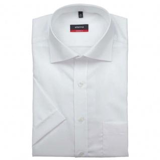 Eterna Herrenhemd Kurzarm 1100/00/C187 Modern Fit Weiß Gr. XL/44