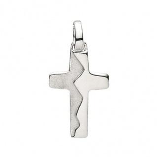 Basic Silber 27.9155S Damen Anhänger Kreuz Silber