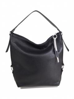 Esprit Damen Handtasche Tasche Henkeltasche Cheryl Hobo Schwarz