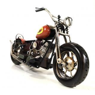 Starlabels 904314 Deko Motorrad Chopper Rot
