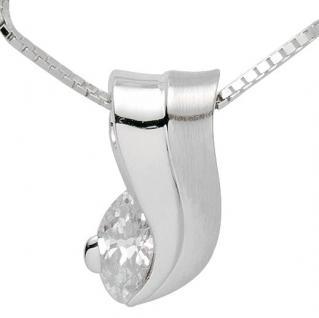 Basic Silber 21.2334 Damen Collier Silber Zirkonia weiß 42 cm