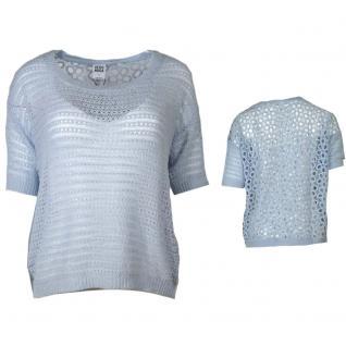 Vero Moda Damen Häckel Pulli NEW NICHELLE 2/4 Blouse Blau Gr. XL