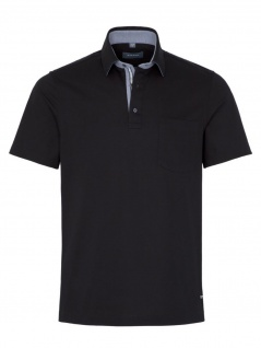 Eterna Herren Polo Shirt Kurzarm Comfort Fit Piqué Schwarz XXXXL/50