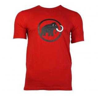 Mammut Herren T-Shirt Kurzarm Mammut Logo T-Shirt Rot Gr. M