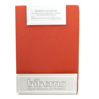Biberna 77866 Jersey Elastic Spannbetttuch Terracotta 180x200 200x220