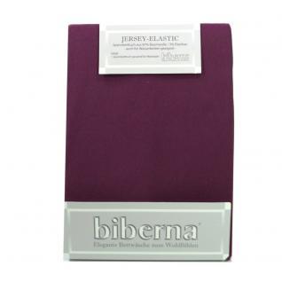 Biberna 77866 Jersey Elastic Spannbetttuch Bordeaux 180x200 200x220