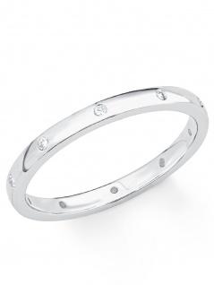 s.Oliver 2017202 Damen Ring Sterling-Silber 925 Silber Weiß 56 (17.8) - Vorschau