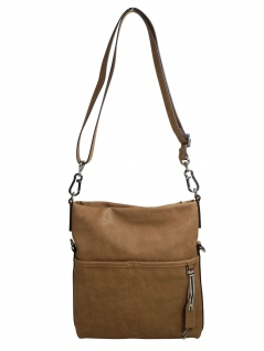 Esprit Damen Handtasche Tasche Schultertasche Kayla Flap over Braun