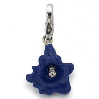 GOOIX GXC251 Charms Damen Charm Silber Enzian blau