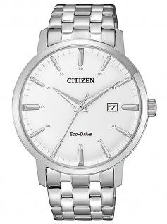 Citizen BM7460-88H Eco Drive Uhr Herrenuhr Edelstahl Datum silber