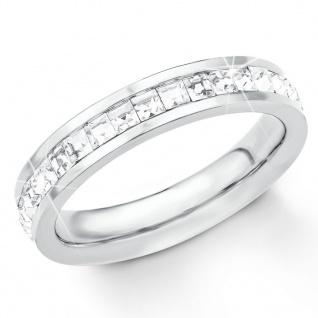 s.Oliver 2018543 Damen Ring Edelstahl Silber Weiß 58 (18.5)