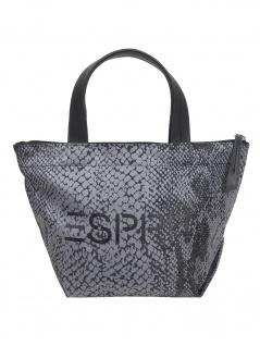 Esprit Handtasche Tasche Henkeltasche Cleo Printed Handbag Schwarz