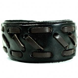 CJBB1941 Herren Armband Leder schwarz 22, 5 cm
