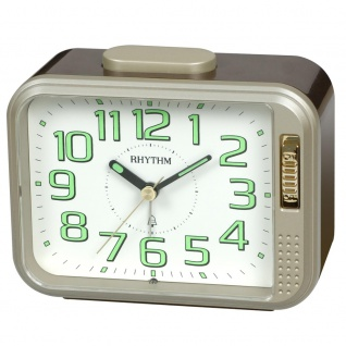 RHYTHM CRA840WR18 Glockenwecker Uhr Alarm Weiss
