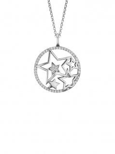 Engelsrufer ERN-STARS-ZI Damen Collier Sterne Silber Weiß 50 cm