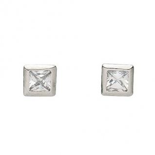 Basic Silber 01.1100W Damen Ohrstecker Silber Zirkonia weiß - Vorschau 1