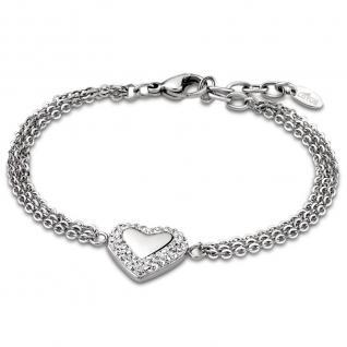 LOTUS LS1768/2/1 Damen Armband Herz Edelstahl Silber weiß 21 cm