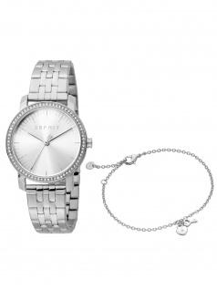 Esprit ES1L183M2055 Elaine Love Set Armband und Uhr Damenuhr silber