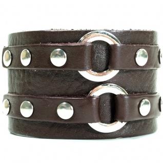 CJBB1952 Herren Armband Leder braun 21, 5 cm