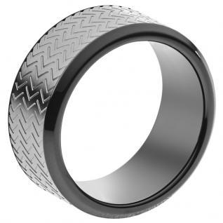 Emporio Armani EGS2256060514 Herren Ring Edelstahl Grau 64 (20.4)