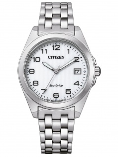Citizen EO1210-83A Eco Drive Uhr Damenuhr Edelstahl Datum silber