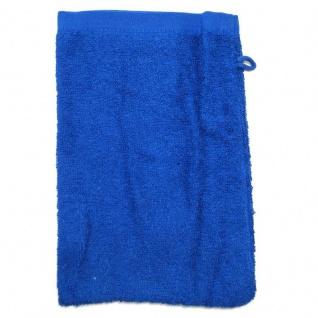 Waschhandschuh Royalblau Frottee 500g/m2 Waschlappen 15 x 21 cm