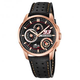 LOTUS 18242-2 Marc Marquez Uhr Herrenuhr Lederarmband Datum schwarz