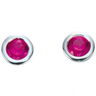 Basic Silber 01.1097R Damen Ohrstecker Silber Zirkonia pink