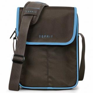 Esprit SL 4-drive tablet bag brown-blue 12431 Tablettasche