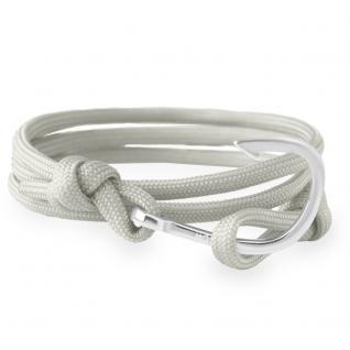 HOOKED HSR29 Damen Armband Haken Edelstahl Silber Grau