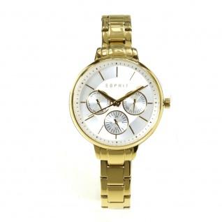 Esprit ES108152006 Uhr Damenuhr Edelstahl Datum gold