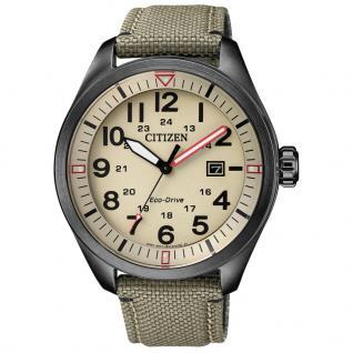 Citizen AW5005-12X Sport Uhr Herrenuhr Lederarmband Datum Braun