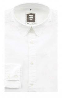 G-Star Herrenhemd Langarm Hemd Landoh Clean Shirt Weiß Gr. M