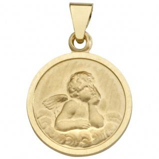 Basic Gold EN26 Kinder Anhänger Schutzengel 14 Karat (585) Gelbgold