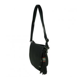 Esprit Wendy Saddlebag Schwarz Leder Handtasche Schulter Tasche - Vorschau 2