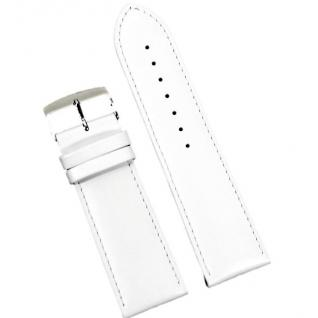 Condor Uhrenband 19600-26-90 Ersatzarmband 26 mm Kalbnappa weiss