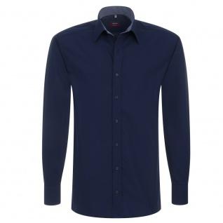Eterna Herrenhemd Hemd Langarm Modern Fit Blau Gr. M/39 1106/19/X148