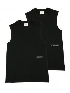Calvin Klein Herren T-Shirt Ärmellos Muscle Tank 2er Pack Schwarz XS