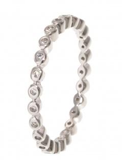 gooix 943-06728-560 Damen Ring Sterling-Silber 925 weiß 56 (17.8)