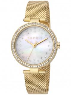 Esprit ES1L199M1035 Roselle Gold Mesh Uhr Damenuhr Datum gold