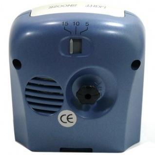 W&S 02028 Wecker Uhr blau-weiß Analog Licht Alarm - Vorschau 3