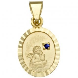 Basic Gold EN10 Kinder Anhänger Schutzengel 14 Karat (585) Gold