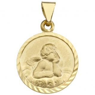 Basic Gold EN27 Kinder Anhänger Schutzengel 14 Karat (585) Gelbgold