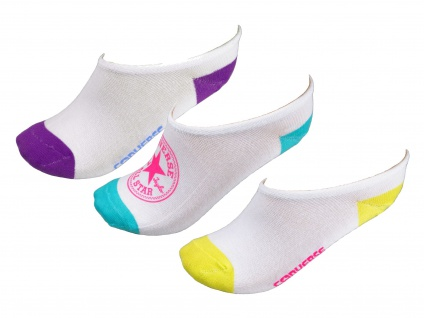 Converse Damen Socken Ultra Low 3er Pack Füßlinge Größe 39-42 Weiß