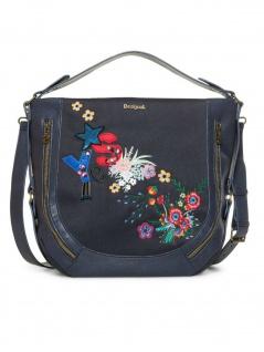 Desigual Damen Handtasche Tasche Surprise Marteta Blau
